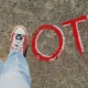 Vote written in chalk
